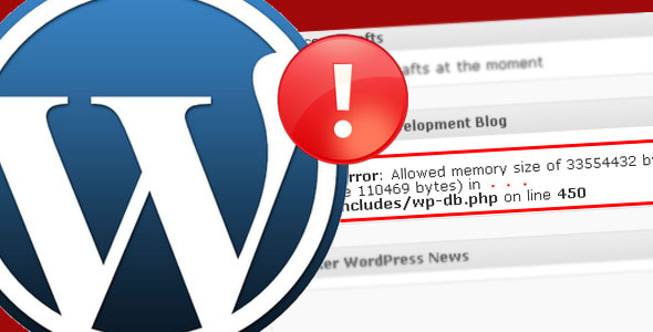 Allowed Memory Size Exhausted Error in WordPress