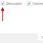 discussion not visible in wordpress