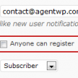 enable or disable user registration in wordpress