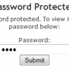 password protecting wordpress posts